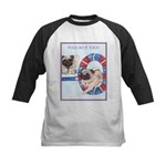 Agility Chinese Pugs Kids Baseball Jersey