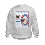 Agility Chinese Pugs Kids Sweatshirt