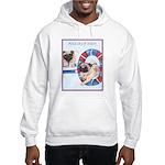 Agility Chinese Pugs Hooded Sweatshirt
