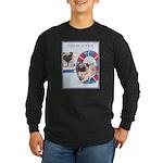 Agility Chinese Pugs Long Sleeve Dark T-Shirt