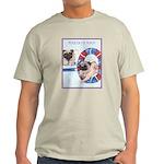 Agility Chinese Pugs Ash Grey T-Shirt