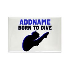 BORN TO DIVE Rectangle Magnet