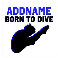 BORN TO DIVE 5.25 x 5.25 Flat Cards