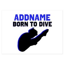 BORN TO DIVE 5x7 Flat Cards