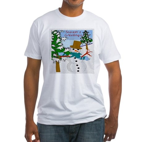 Season's Greetings Fitted T-Shirt