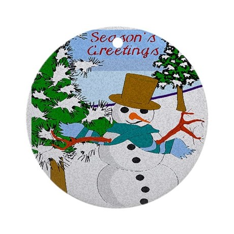 Season's Greetings Ornament (Round)