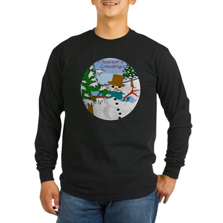 Season's Greetings Long Sleeve Dark T-Shirt