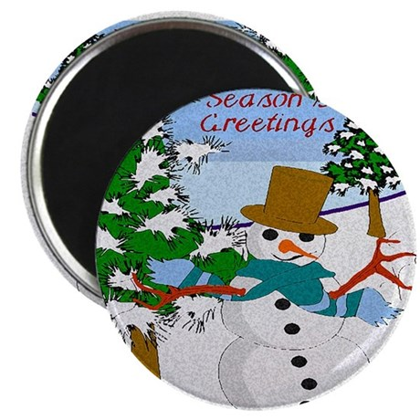 "Season's Greetings 2.25"" Magnet (100 pack)"