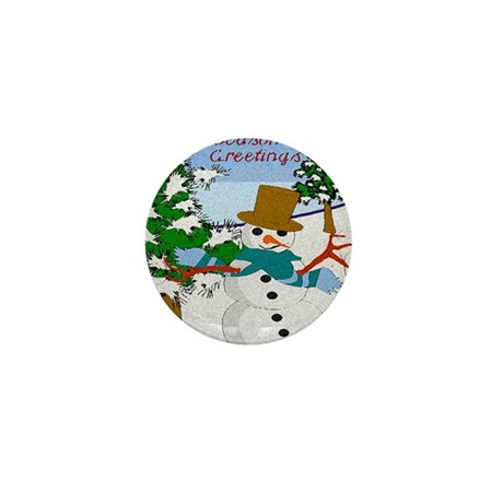 Season's Greetings Mini Button