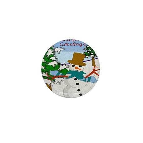Season's Greetings Mini Button (100 pack)