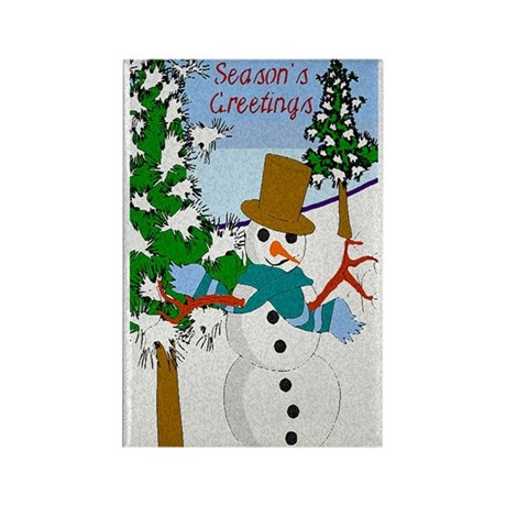 Season's Greetings Rectangle Magnet (100 pack)