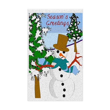 Season's Greetings Rectangle Sticker