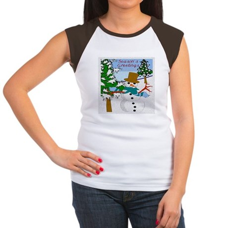 Season's Greetings Women's Cap Sleeve T-Shirt