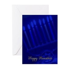 hanukkah menorah Greeting Cards (Pk of 20)