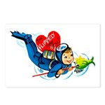 Scuba Valentine Postcards (Package of 8)