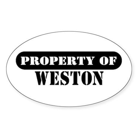 Property of Weston Oval Sticker