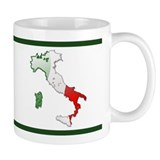 """Italy Bubble Map"" Small Mug"