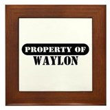 Property of Waylon Framed Tile