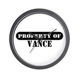 Property of Vance Wall Clock