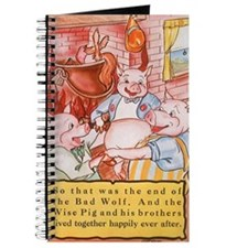 Vintage Three Little Pigs Journal