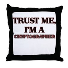 Trust Me, I'm a Cryptographer Throw Pillow