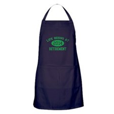 Life begins at 2014 Retirement Apron (dark)
