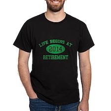 Life begins at 2014 Retirement T-Shirt