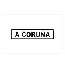 Roadmarker La Coruña - Spain Postcards (Package of