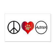 Peace Love Adopt Wall Decal