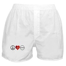 Peace Love Adopt Boxer Shorts