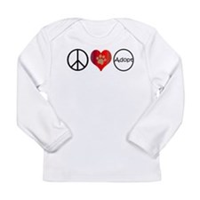 Peace Love Adopt Long Sleeve T-Shirt