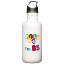 Kiss Me I'm 85 Water Bottle