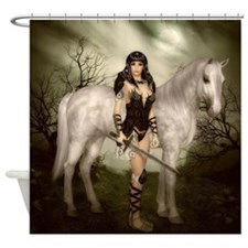 Amazon with Horse Shower Curtain
