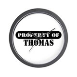 Property of Thomas Wall Clock