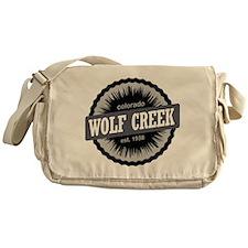 Wolf Creek Ski Resort Colorado Black Messenger Bag
