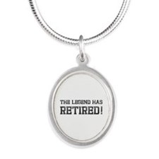 The legend has retired! Silver Oval Necklace