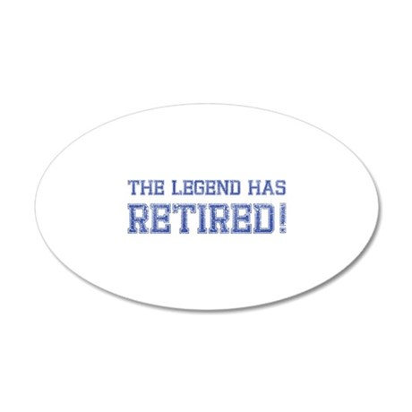 The legend has retired! 38.5 x 24.5 Oval Wall Peel