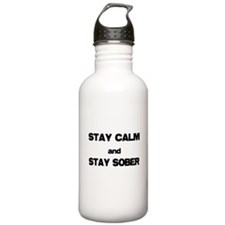 Stay Calm Stay Sober Water Bottle