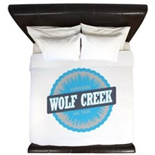 Wolf Creek Ski Resort Colorado Sky Blue King Duvet