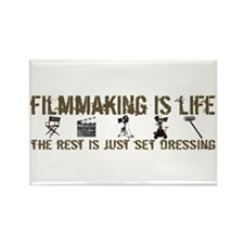 Filmmaking is Life Rectangle Magnet (10 pack)