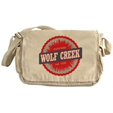 Wolf Creek Ski Resort Colorado Red Messenger Bag