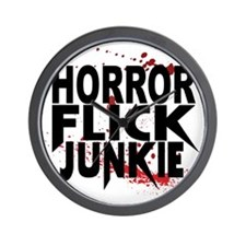 Horror Flick Junkie Wall Clock