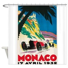 Monaco, Car, Race, Travel, Vintage Poster Shower C