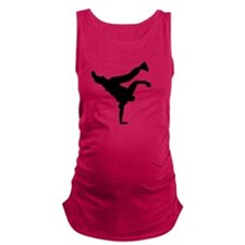 BBOY silhouette blk Maternity Tank Top