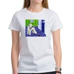 SOFT COATED WHEATEN TERRIER moon Women's T-Shirt