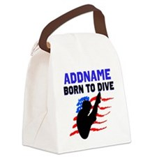 BORN TO DIVE Canvas Lunch Bag
