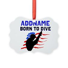 BORN TO DIVE Ornament