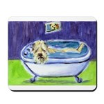 SOFT COATED WHEATEN TERRIER BATH Mousepad