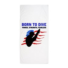 TOP DIVER Beach Towel