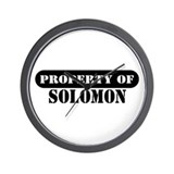 Property of Solomon Wall Clock
